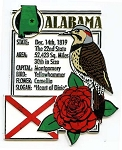 Alabama Square Fridge Magnet