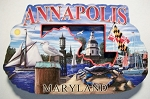 Annapolis Maryland Montage Artwood Fridge Magnet Design 27