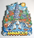 Annapolis Skyline Artwood Fridge Magnet Design 27