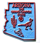 Arizona the Grand Canyon State Map Fridge Magnet