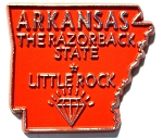 Arkansas The Razorback State Outline Magnet Design 10
