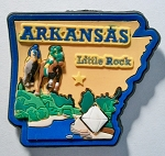 Arkansas Little Rock Multi Color Fridge Magnet