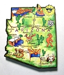Arizona State Outline Artwood Jumbo Fridge Magnet