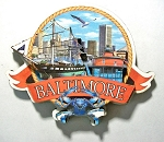 Baltimore Maryland Montage Artwood Fridge Magnet Design 27