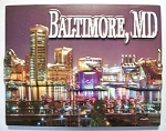 Baltimore Maryland at Night Fridge Magnet Design 10
