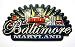 Baltimore Maryland Sunburst Fridge Fridge Magnet Design 27