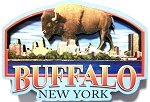 Buffalo New York Artwood Fridge Magnet