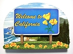 California State Welcome Sign Artwood Fridge Magnet Design 14