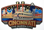 Cincinnati Ohio Sunburst Fridge Magnet Design 25