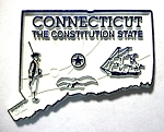 Connecticut Map Fridge Magnet Design 2
