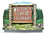 Colorado State Welcome Sign Artwood Magnet Design 14