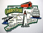 Connecticut Jumbo Map Fridge Magnet