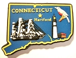 Connecticut Multi Color Fridge Magnet Design 18
