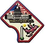 Washington D.C. Multi Color Fridge Magnet