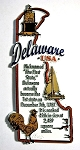 Delaware State Outline Montage Fridge Magnet Design 4