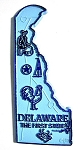 Delaware The First State State Map Magnet Design 2