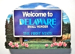Delaware State Welcome Sign Artwood Fridge Magnet Design 14