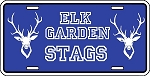 Elk Garden Stags Blue License Plate Design 2