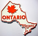 Ontario Canadian Province Outline Fridge Magnet Design 1