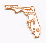 Florida State Outline Fridge Magnet Design 1