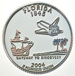 Florida State Quarter Fridge Magnet Design 13