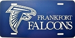 Frankfort Falcons License Plate Design 2