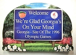 Georgia State Welcome Sign Artwood Magnet Design 14