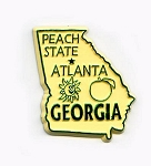 Georgia State Outline Magnet Design 1