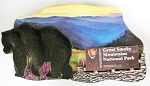 Great Smoky Mountains National Park with Bear Fridge Magnet Design 1