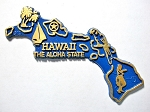 Hawaii The Aloha State Map Fridge Magnet