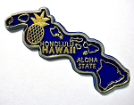 Hawaii State Outline Magnet Design 1