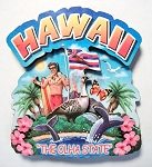 Hawaii Montage Artwood Magnet Design 16