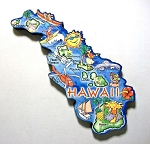 Hawaii State Outline Artwood Jumbo Magnet Design 12