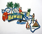 Hawaii Jumbo Map Fridge Magnet Design 9
