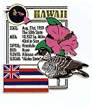 Hawaii The Aloha State Montage Fridge Magnet Design 5