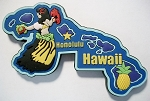 Hawaii Multi Color Fridge Magnet Design 18