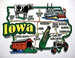 Iowa Jumbo Map Fridge Magnet