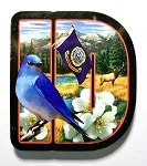 Idaho Initial Artwood Magnet Design 19