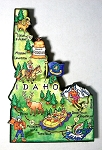 Idaho State Outline Artwood Jumbo Magnet Design 12