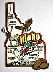 Idaho Jumbo Map Fridge Magnet Design 9