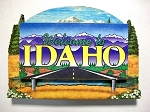 Idaho State Welcome Sign Artwood Fridge Magnet Design 14