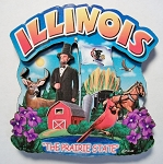 Illinois Montage Artwood Magnet Design 16