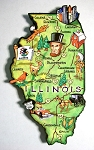 Illinois State Outline Artwood Jumbo Magnet Design 12