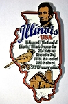 Illinois The Land of Lincoln State Outline Montage Fridge Magnet Design 4