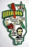 Illinois Jumbo Map Fridge Magnet Design 9