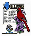 Illinois Land of Lincoln Montage Fridge Magnet Design 5