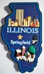 Illinois Springfield Multi Color Fridge Magnet Design 18