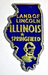 Illinois State Outline Magnet
