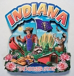 Indiana Montage Artwood Magnet Design 16