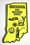 Indiana The Hoosier State Map Fridge Magnet Design 2